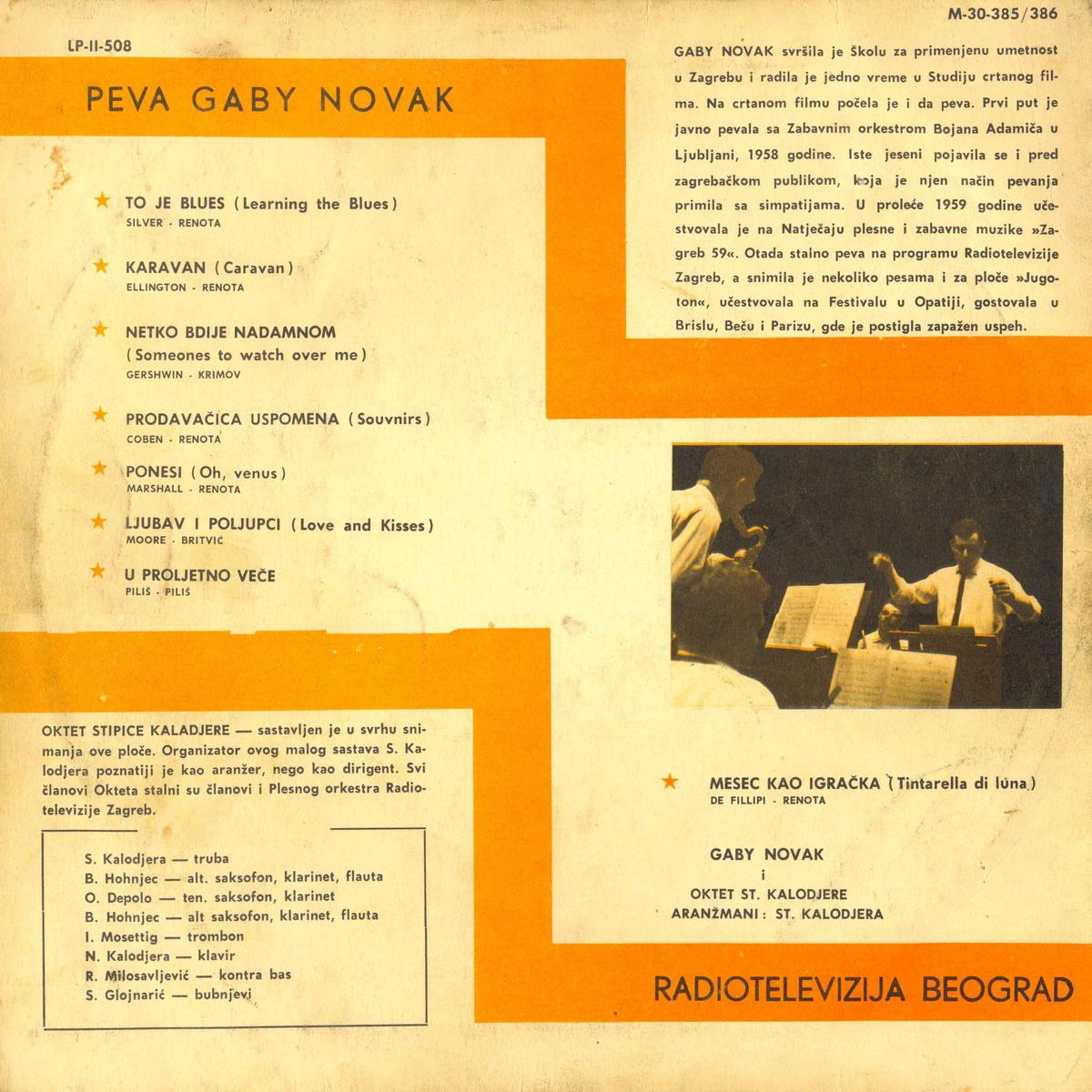Gaby Novak 1961 Peva Gaby Novak b